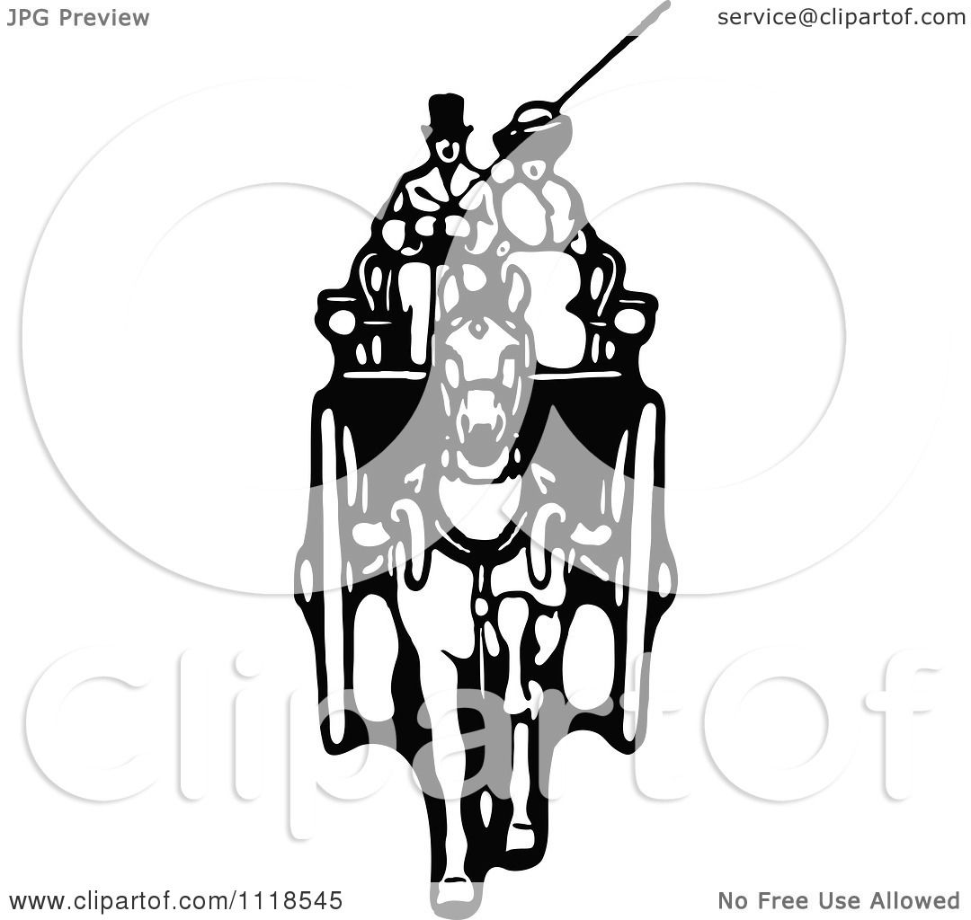 Horse Drawn Carriage Clipart White Horse Drawn Carriage