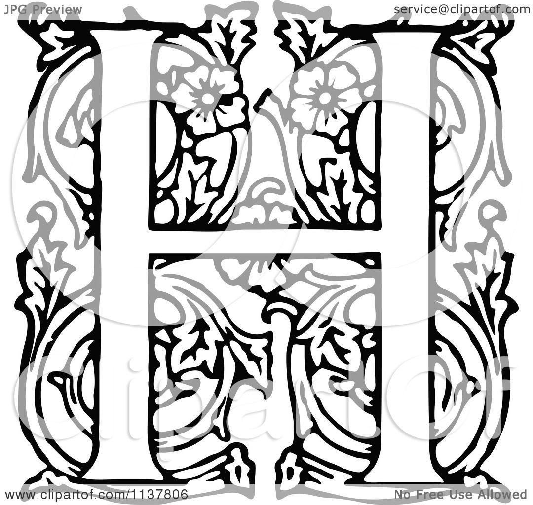 Fancy H Letter Fancy l...