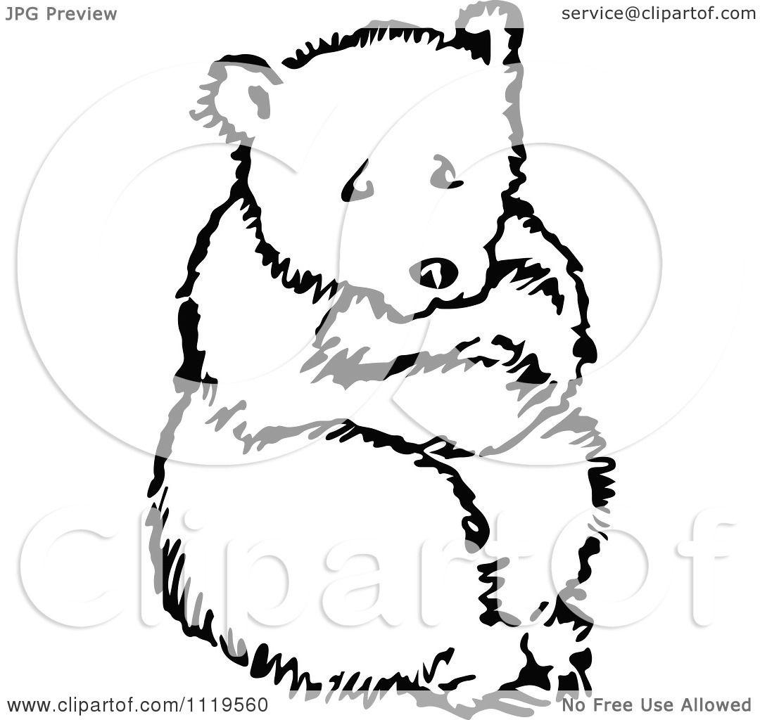 Baby Bear Clip Art Goldilocks Clipart of a retro vintage