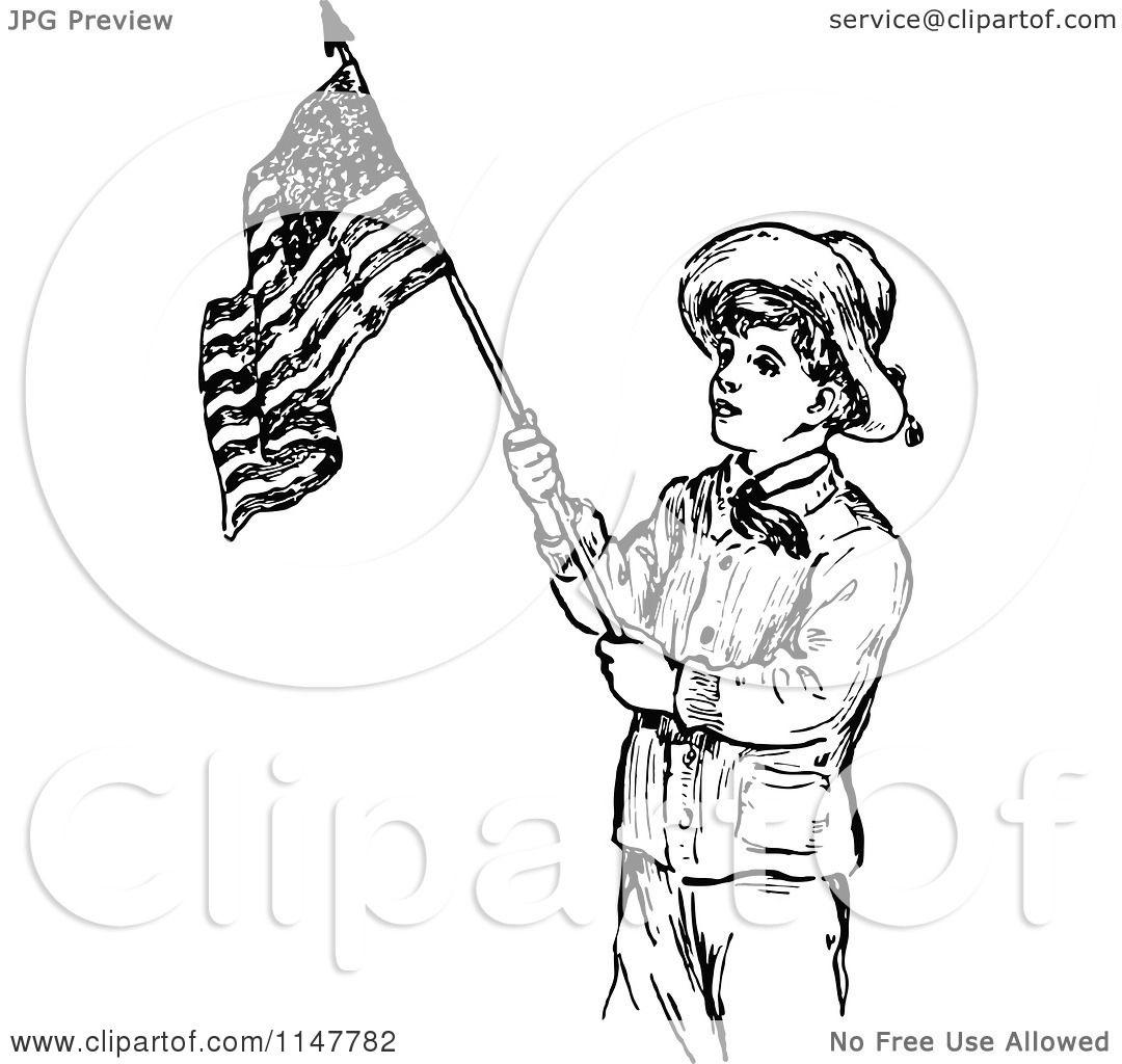 Clipart of a Retro Vintage  Labor Day Clip Art Black And White