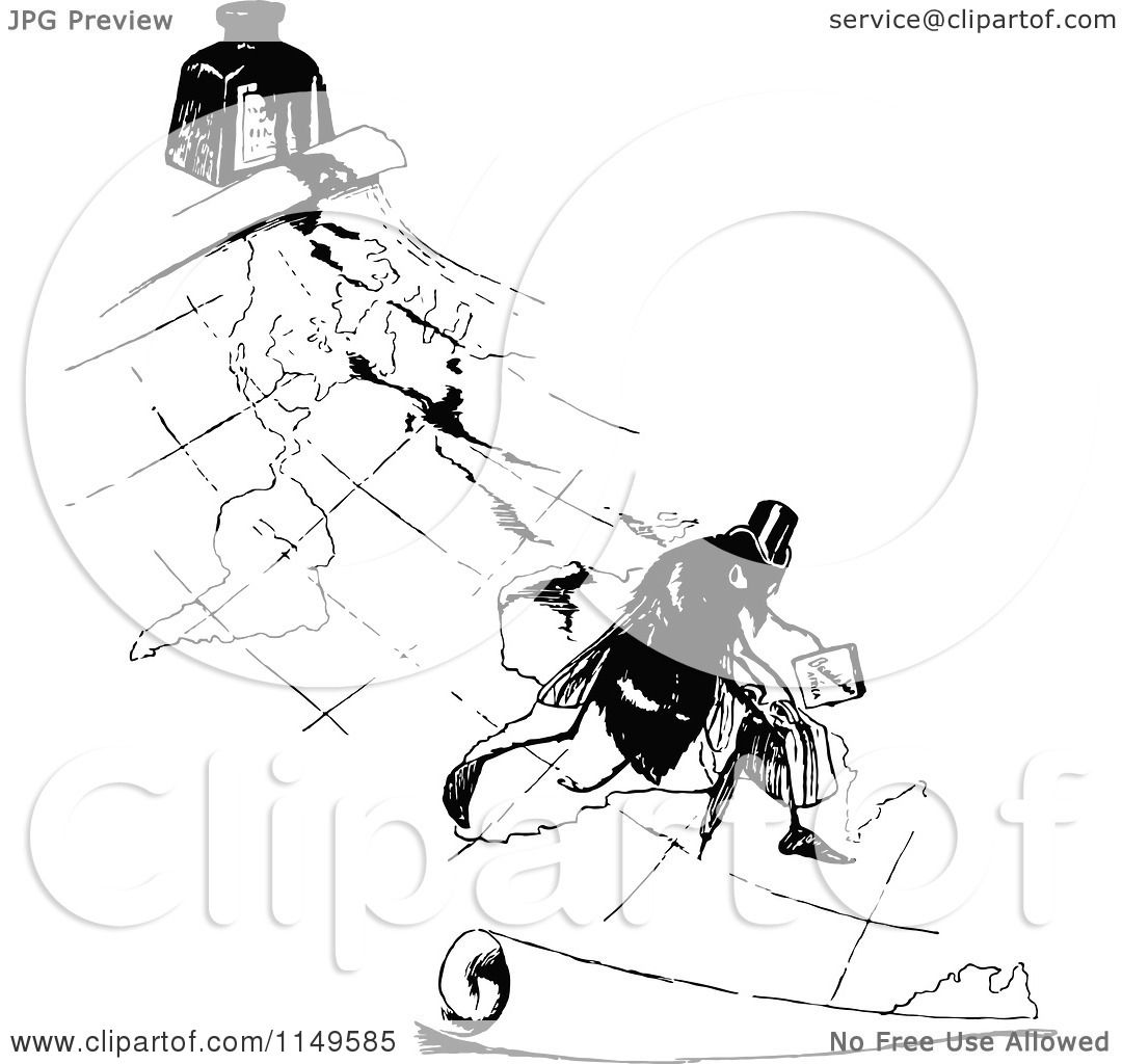 vintage travel clipart black and white - photo #28