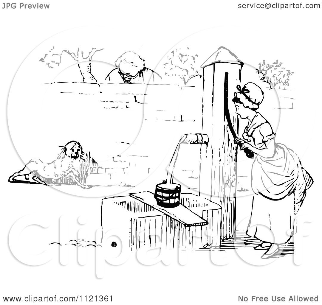 old water pump coloring pages sketch coloring page