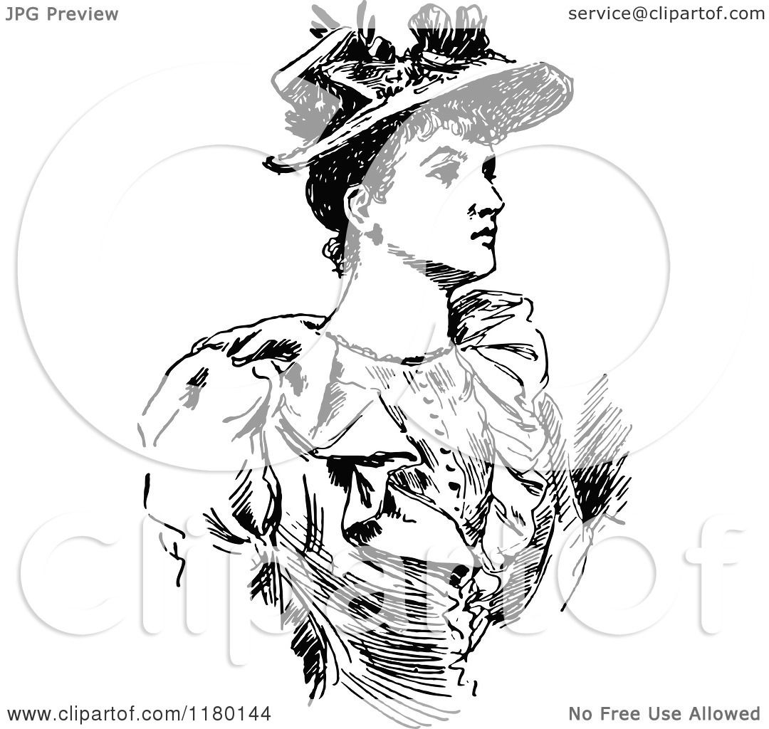 Free Clipart Black Women Wearing Hats Clipart of a Ret...