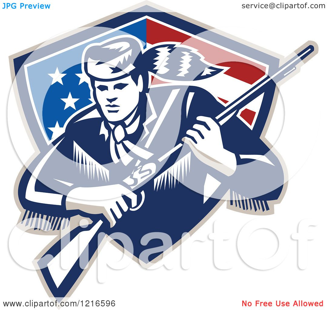 clipart of a retro woodcut frontiersman or daniel boone