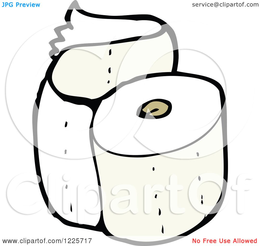 Royalty Free Toilet Clip Art Vector Images: Clipart Of A Roll Of Toilet Paper