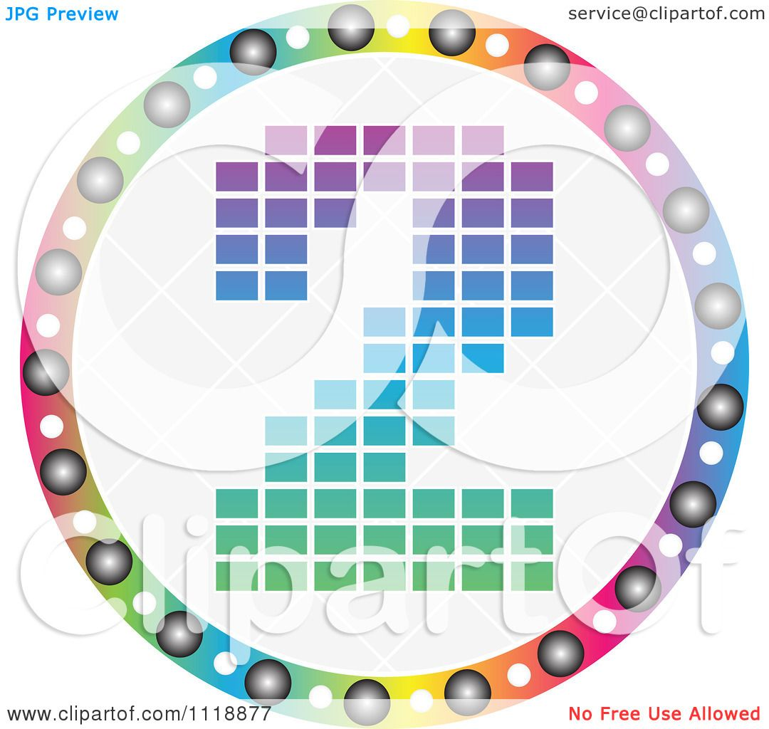 Clipart Of A Round Colorful Number 2 Icon - Royalty Free ...
