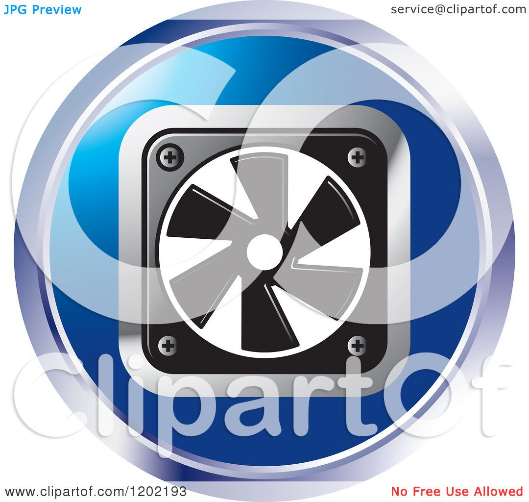 Cooling Fan Clip Art : Clipart of a round computer cooling fan icon royalty
