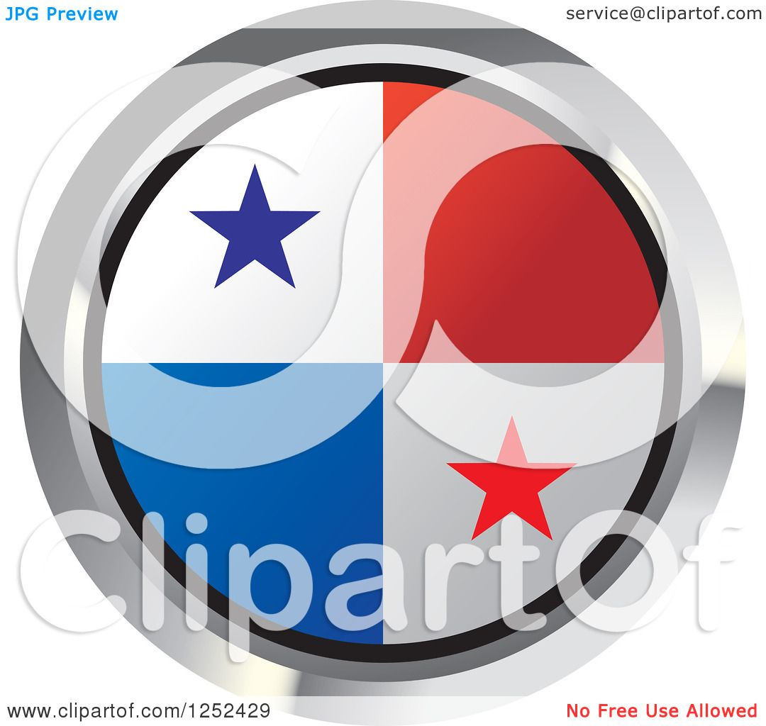 clipart of a round panama flag icon 2 royalty free vector illustration by lal perera 1252429. Black Bedroom Furniture Sets. Home Design Ideas