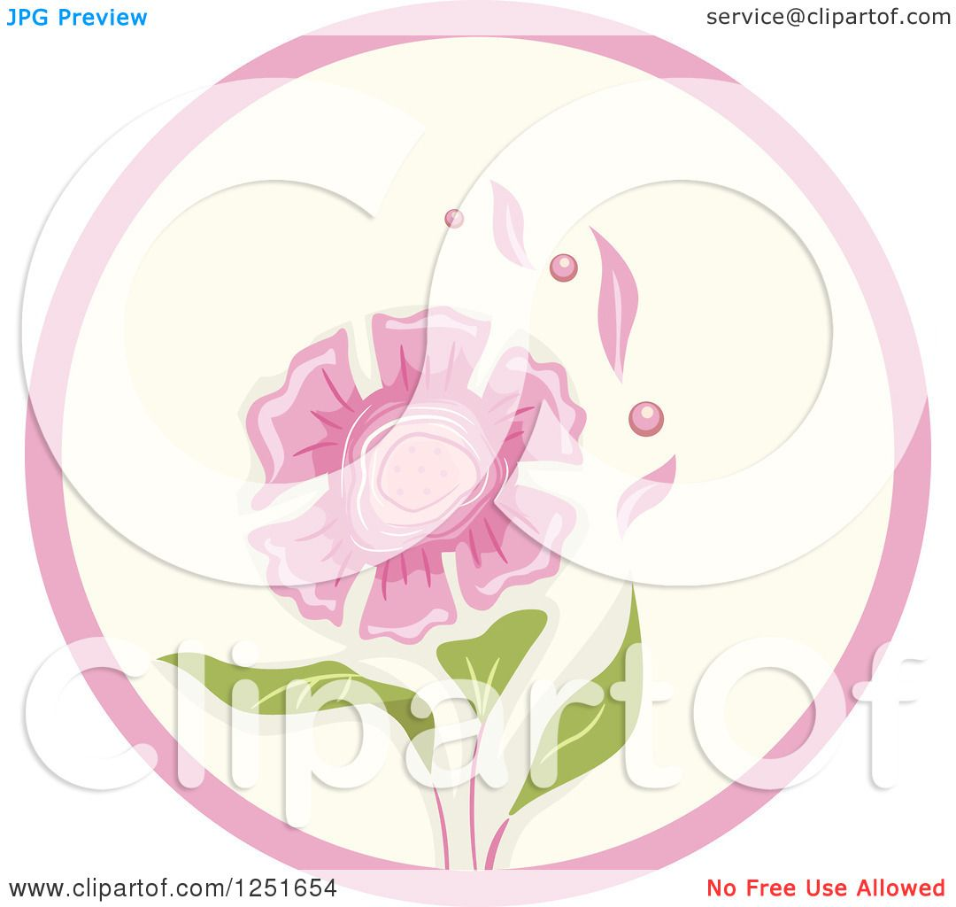 Clipart of a round shappy chic pink flower icon royalty free clipart of a round shappy chic pink flower icon royalty free vector illustration by bnp design studio dhlflorist Images