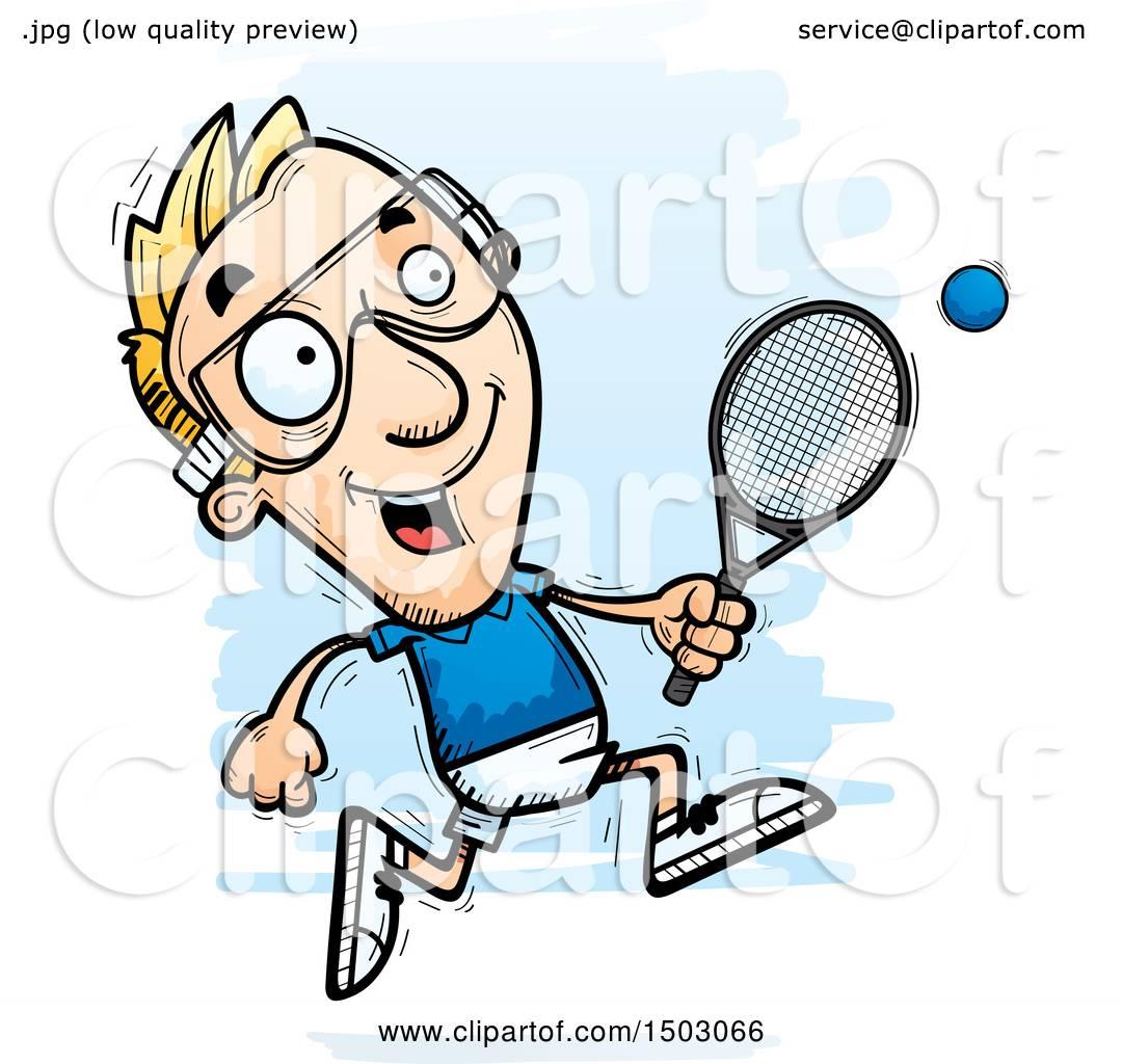 clipart of a running caucasian man racquetball player royalty free rh clipartof com racquetball clip art free