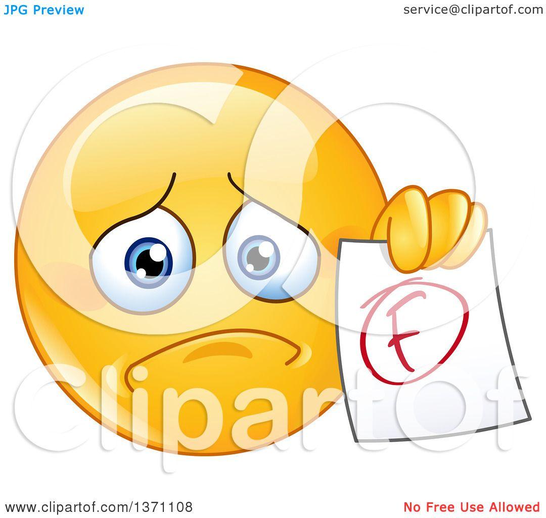 Clipart of a Sad Carto...