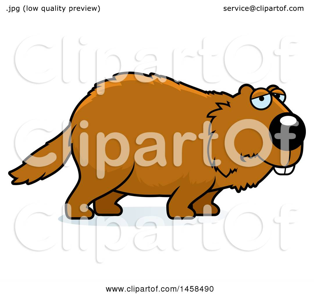clipart of a sad or depressed woodchuck groundhog whistlepig rh clipartof com woodchuck clipart free woodchuck clipart free