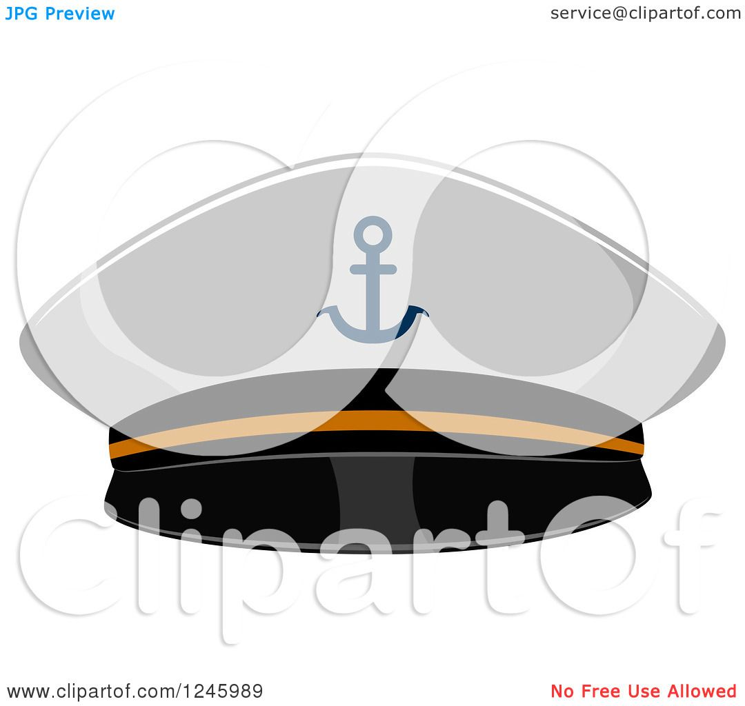 Clipart of a Sailor Military Navy Hat - Royalty Free Vector ...