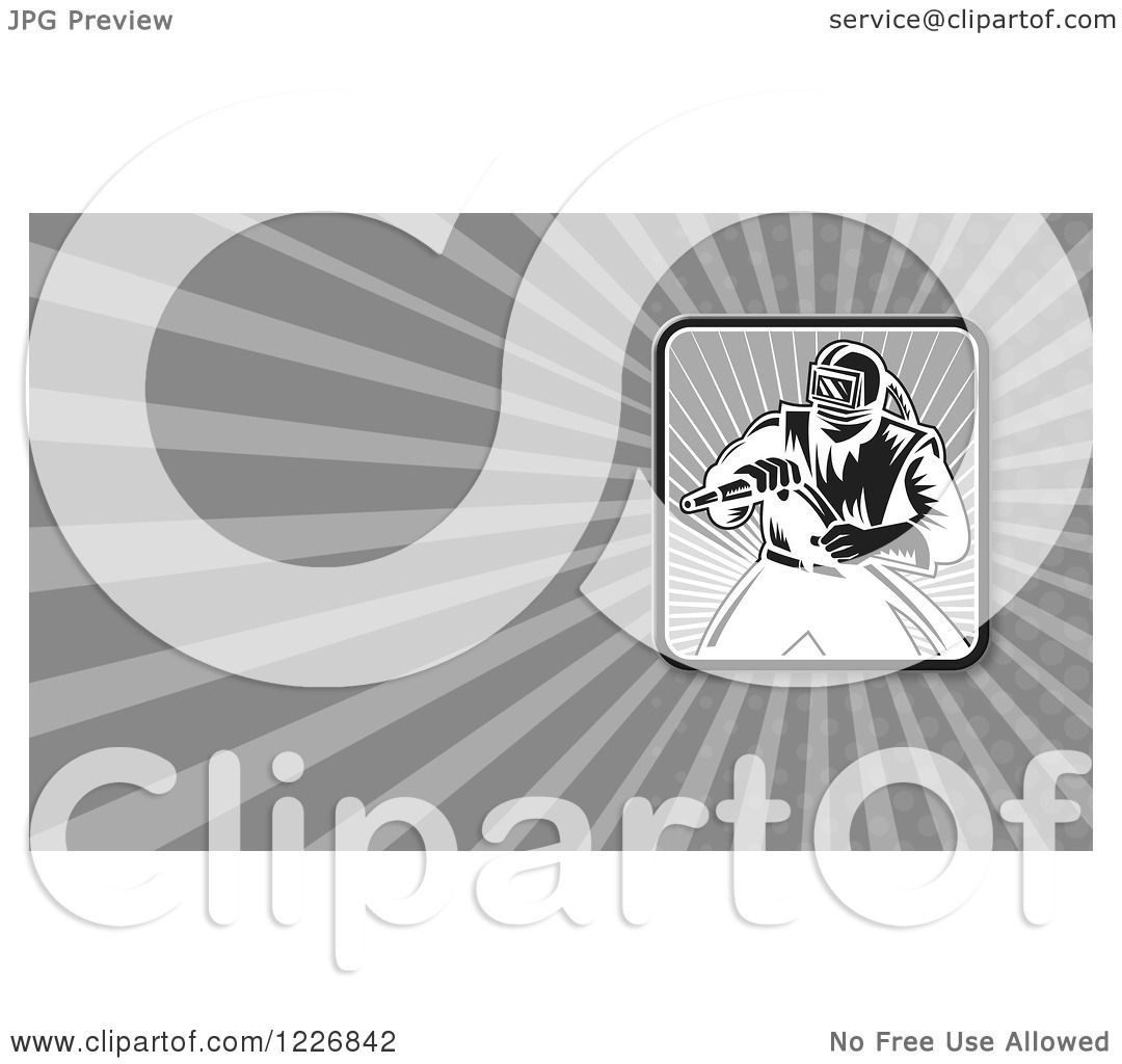 Clipart of a Sandblasting Background or Business Card Design ...