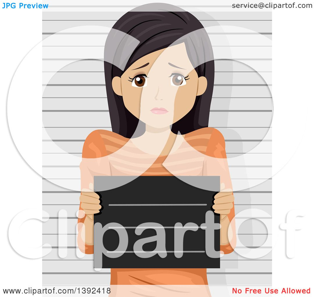 clipart of a scared brunette white woman getting her mug shot taken royalty free vector Funny Money Clip Art Funny Beer Clip Art