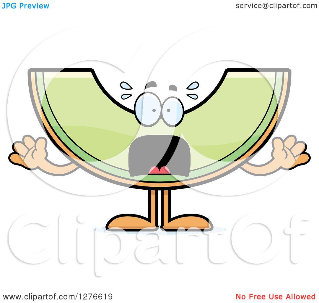 Clipart of a Scared Screaming Honeydew Melon Character ... Honeydew Melon Clip Art