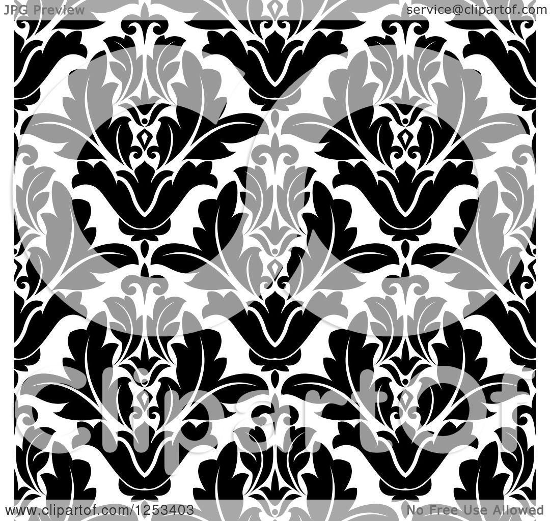 Vintage Seamless Floral Pattern Vector Illustration Stock