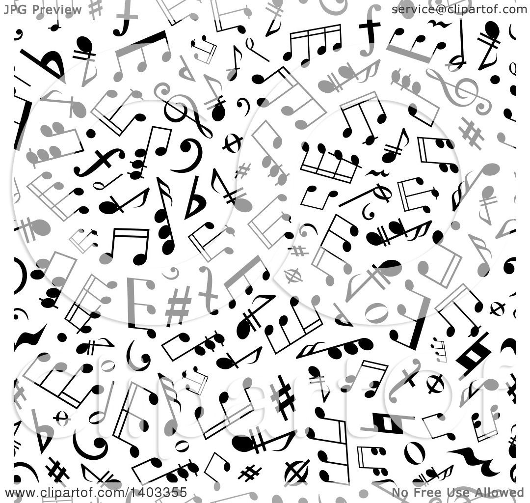 Clipart of a seamless background pattern of black music notes clipart of a seamless background pattern of black music notes royalty free vector illustration by vector tradition sm voltagebd Image collections