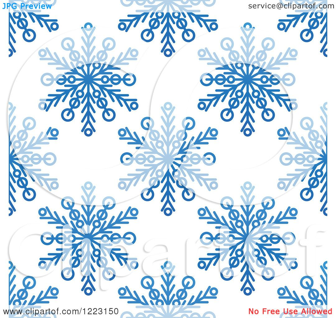 Clipart Of A Seamless Background Pattern Of Blue