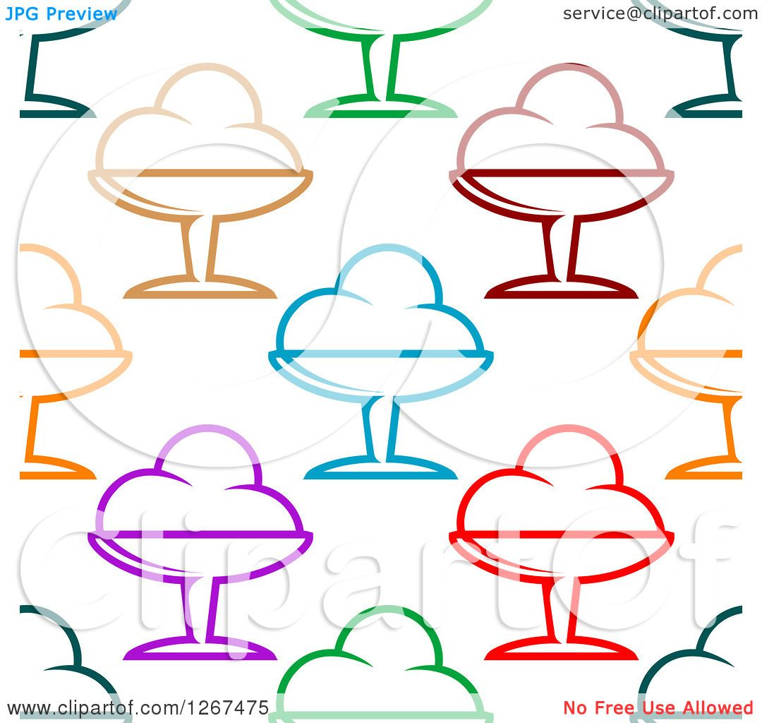 Clipart Of A Seamless Background Pattern Of Colorful Ice