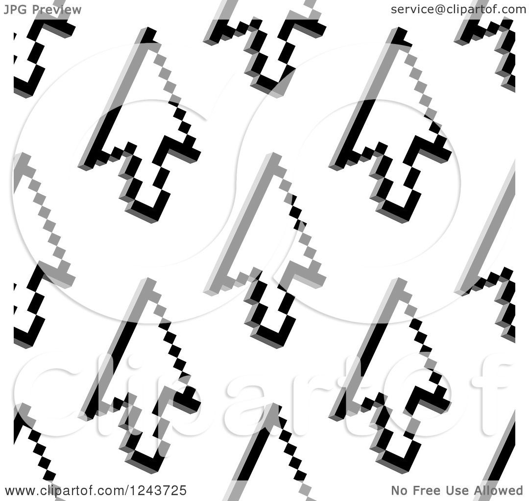Clipart of a Seamless Background Pattern of Computer ...