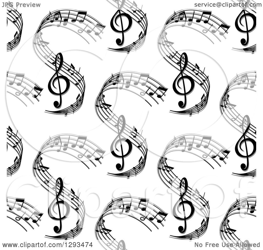 Clipart Of A Seamless Background Pattern Of Grayscale