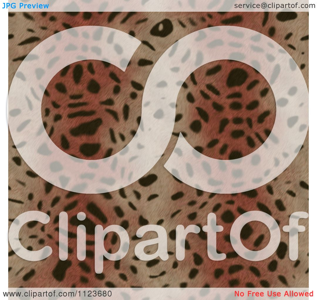 Clipart Of A Seamless Brown Animal Fur Print Background ...