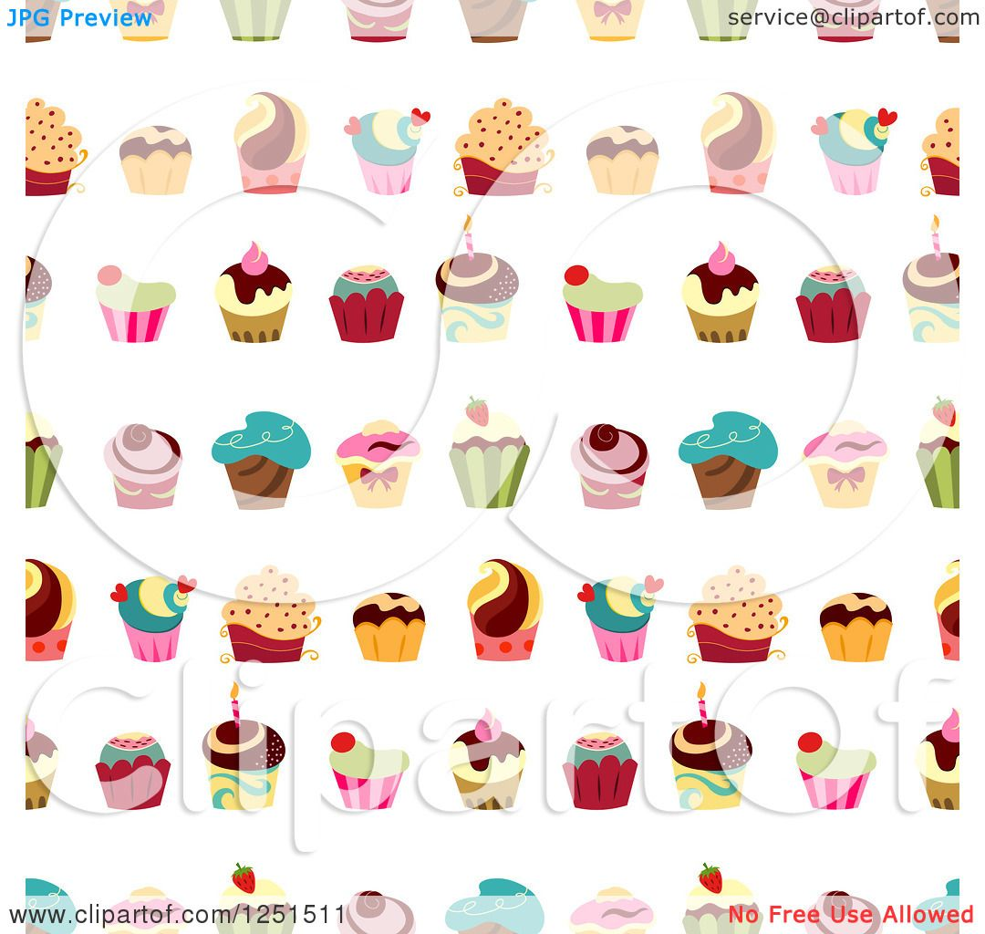 Cupcake Clipart no Background Cupcake Background Pattern