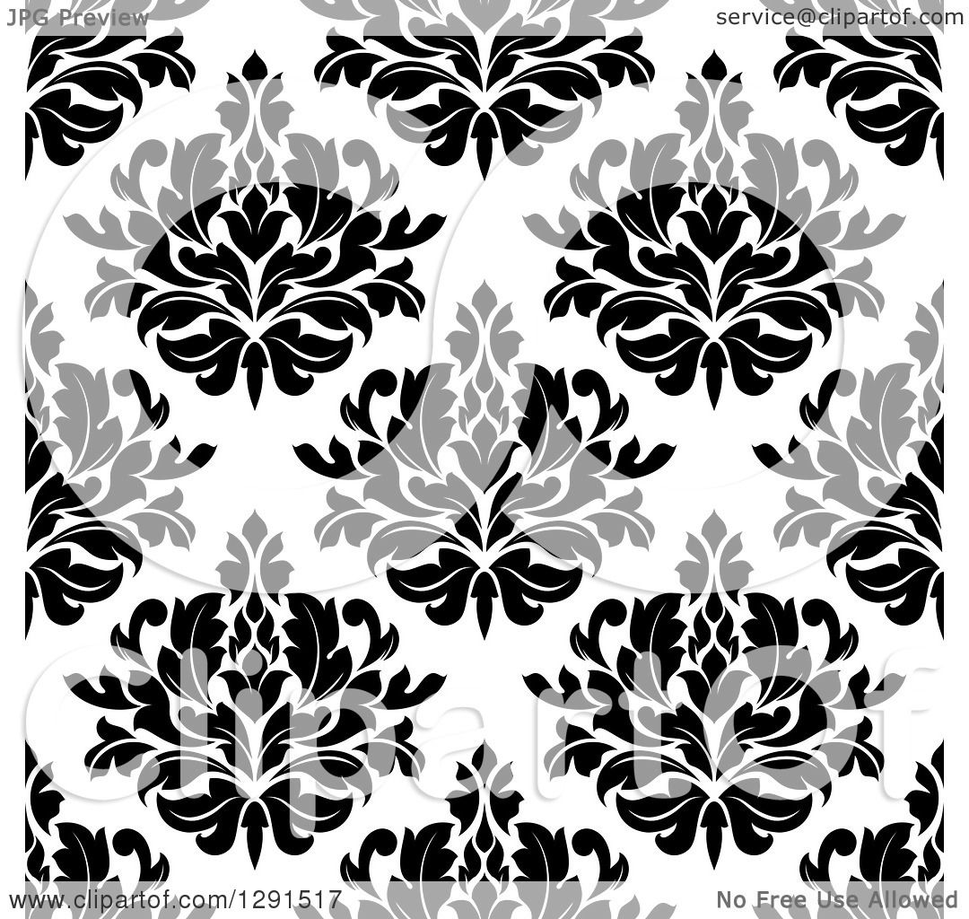 Clipart of a Seamless Pattern Background of Black and ...