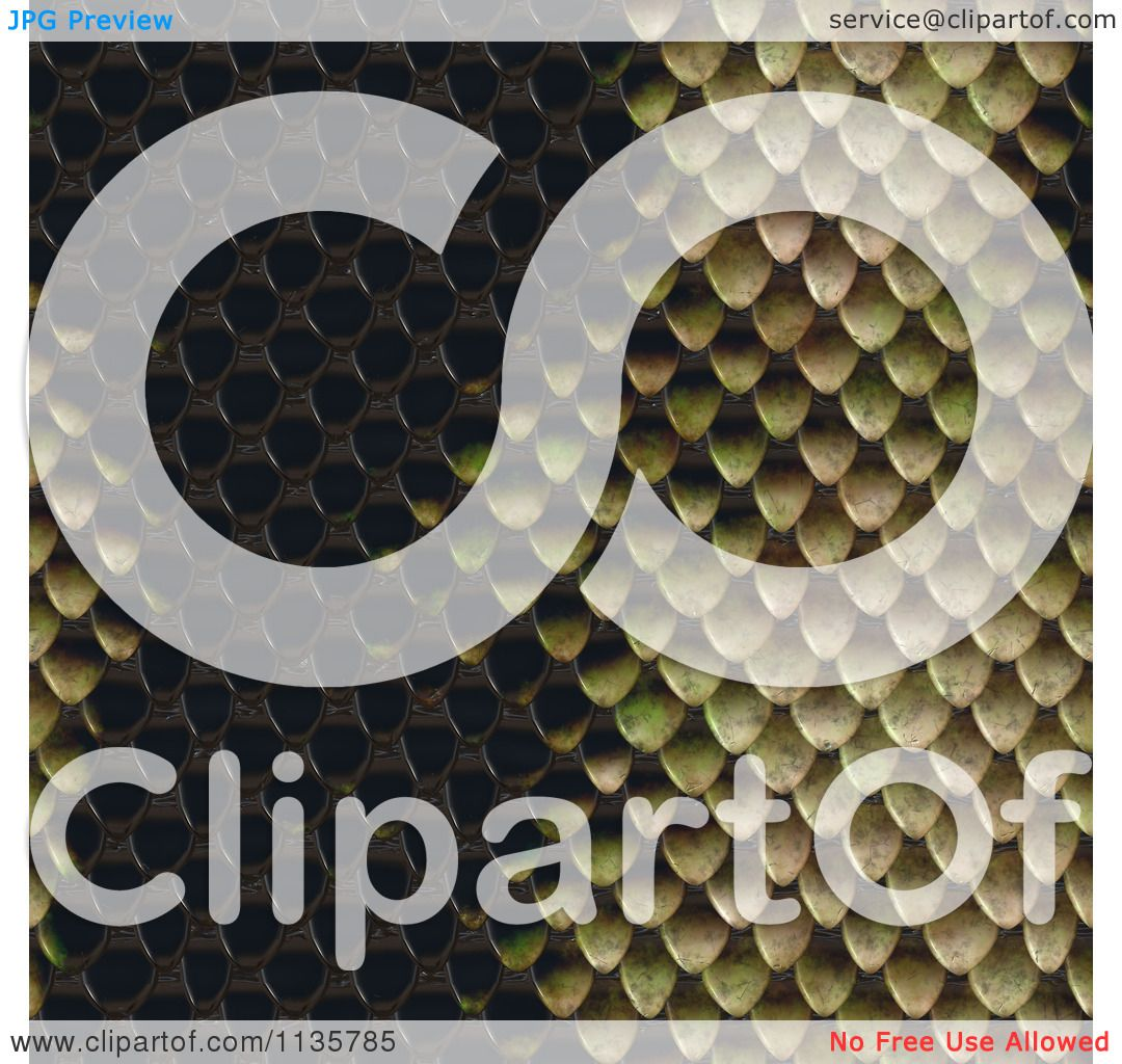Clipart Of A Seamless Snake Skin Scales Texture Background
