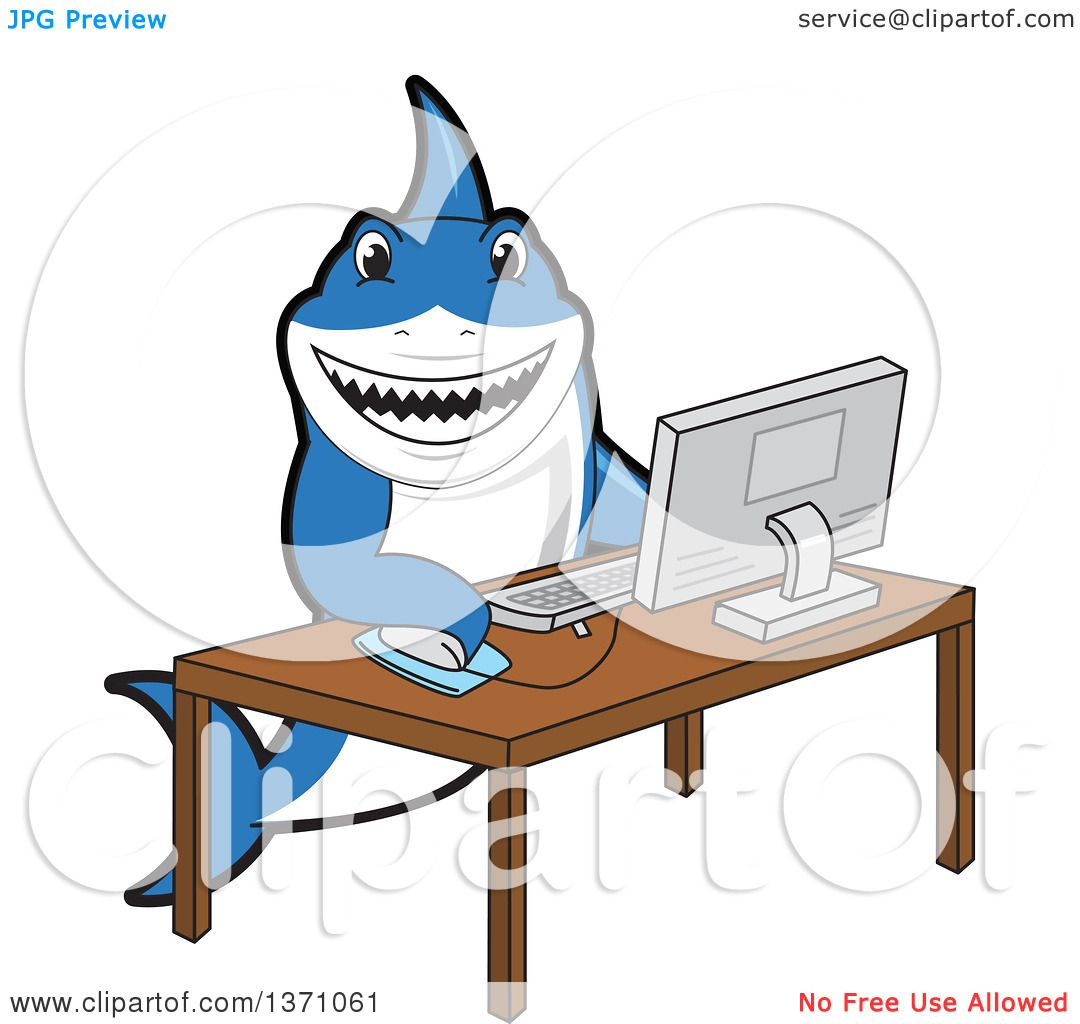Clipart-Of-A-Shark-School-Mascot-Charact
