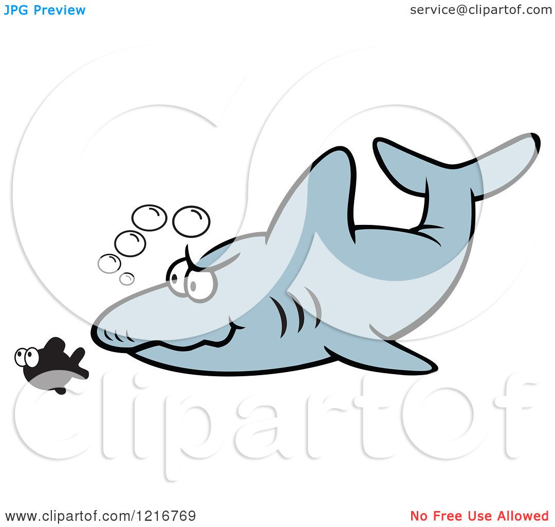 Clipart of a Shark Stalking Its Prey - Royalty Free Vector ... Prey Clipart