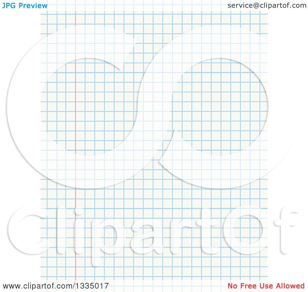Clipart of a Sheet of Math Graph Paper Royalty Free Vector – Math Graph Paper