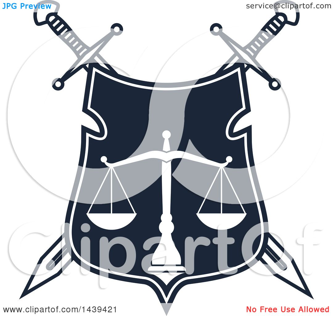clipart of a shield with crossed swords and scales of Scales of Justice Drawing Clip Art Black and White Cake