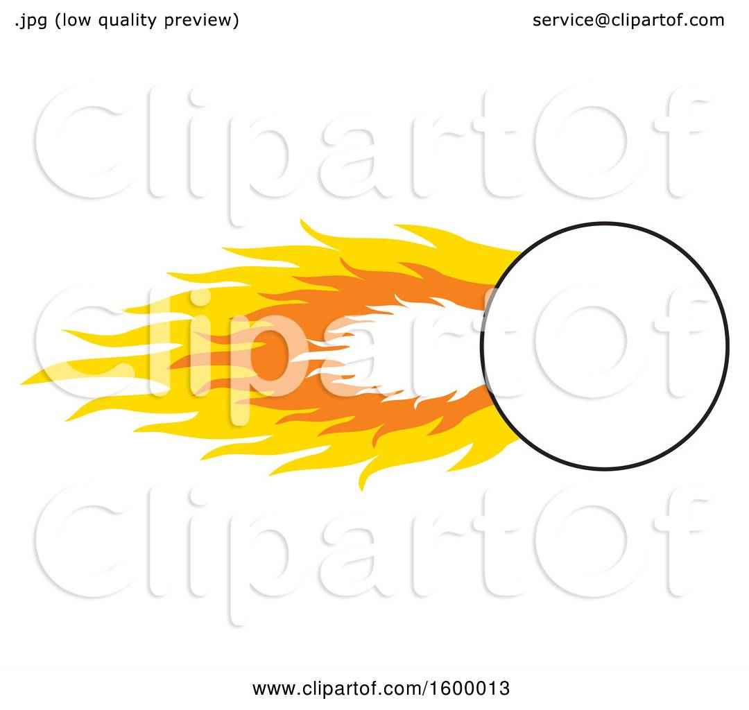 Clipart of a Shooting Comet with a Blank Frame - Royalty Free Vector ...