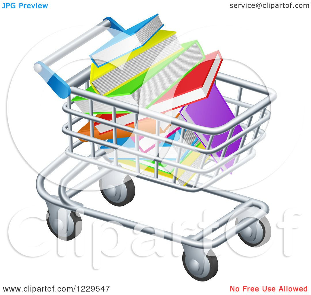 Full Grocery Cart Clipart Clipart of a Sh...