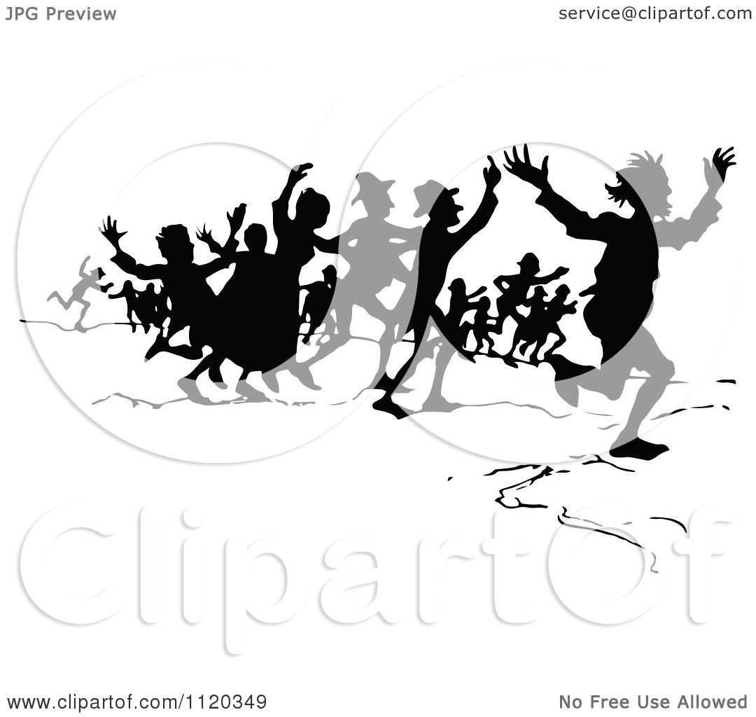 Crowd of People Clipart Clipart of a Silhouetted Crowd