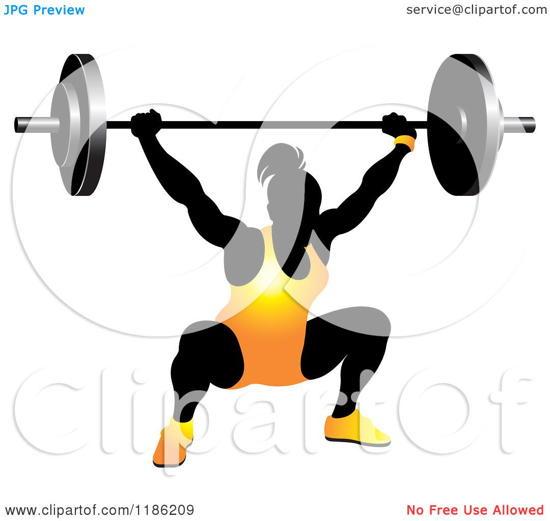 clipart gratis clipart of a silhouetted female bodybuilder lifting a