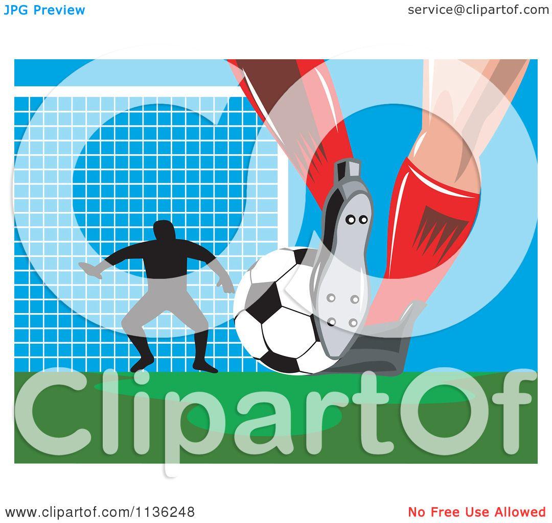 Soccer Goalie Silhouet...