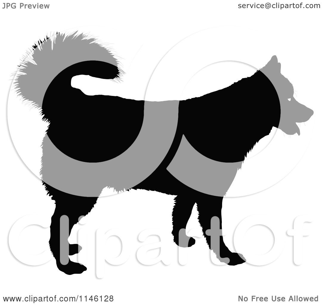 Husky Dog Clipart Happy Husky Dog Royalty