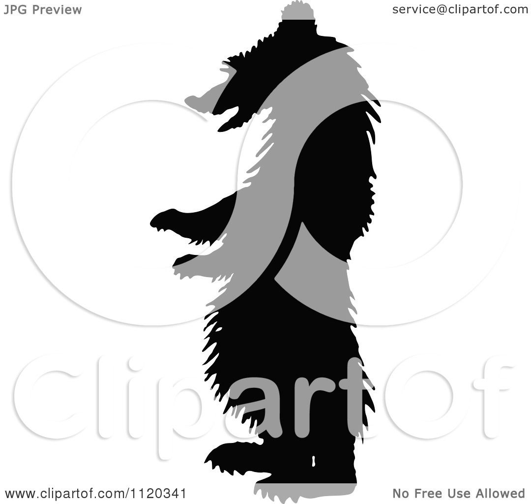 Baby Bear Clip Art Goldilocks Clipart of a silhouetted