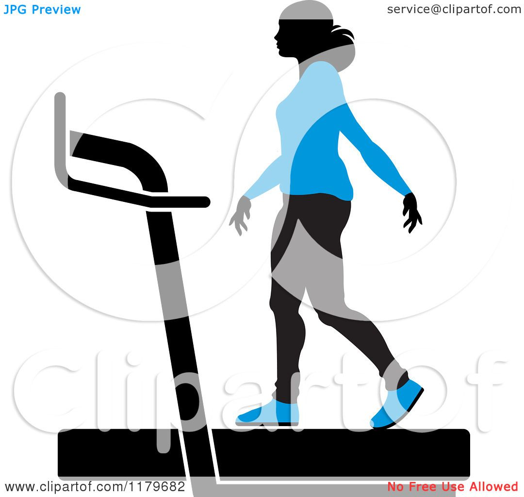 Clipart of a Silhouetted Woman in a Blue Outfit, Walking on a ...
