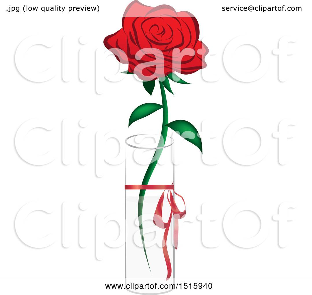 Clipart of a single red rose in a vase royalty free vector clipart of a single red rose in a vase royalty free vector illustration by vitmary rodriguez floridaeventfo Choice Image