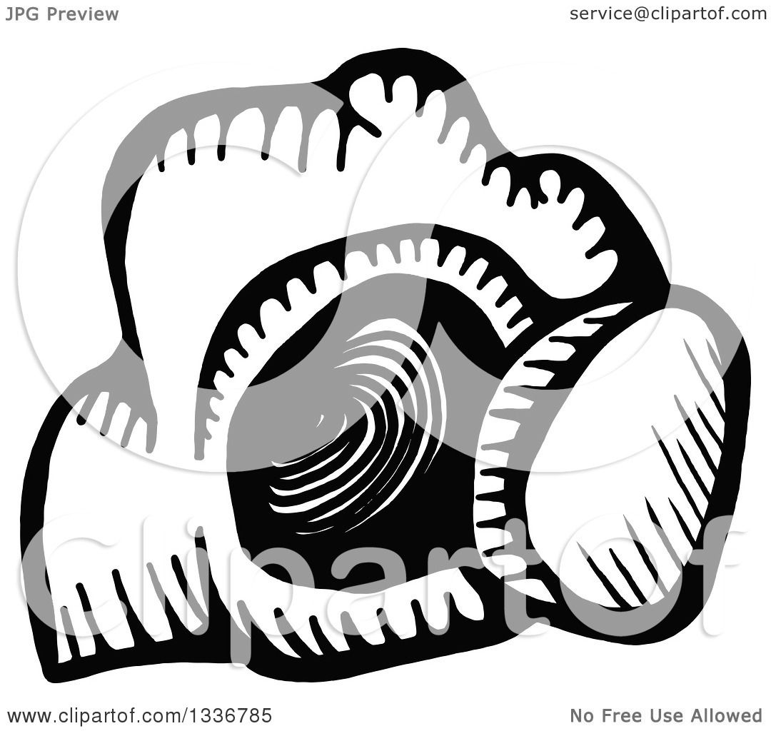 Clipart of a Sketched Black and White Doodle of the Empty Tomb of ...