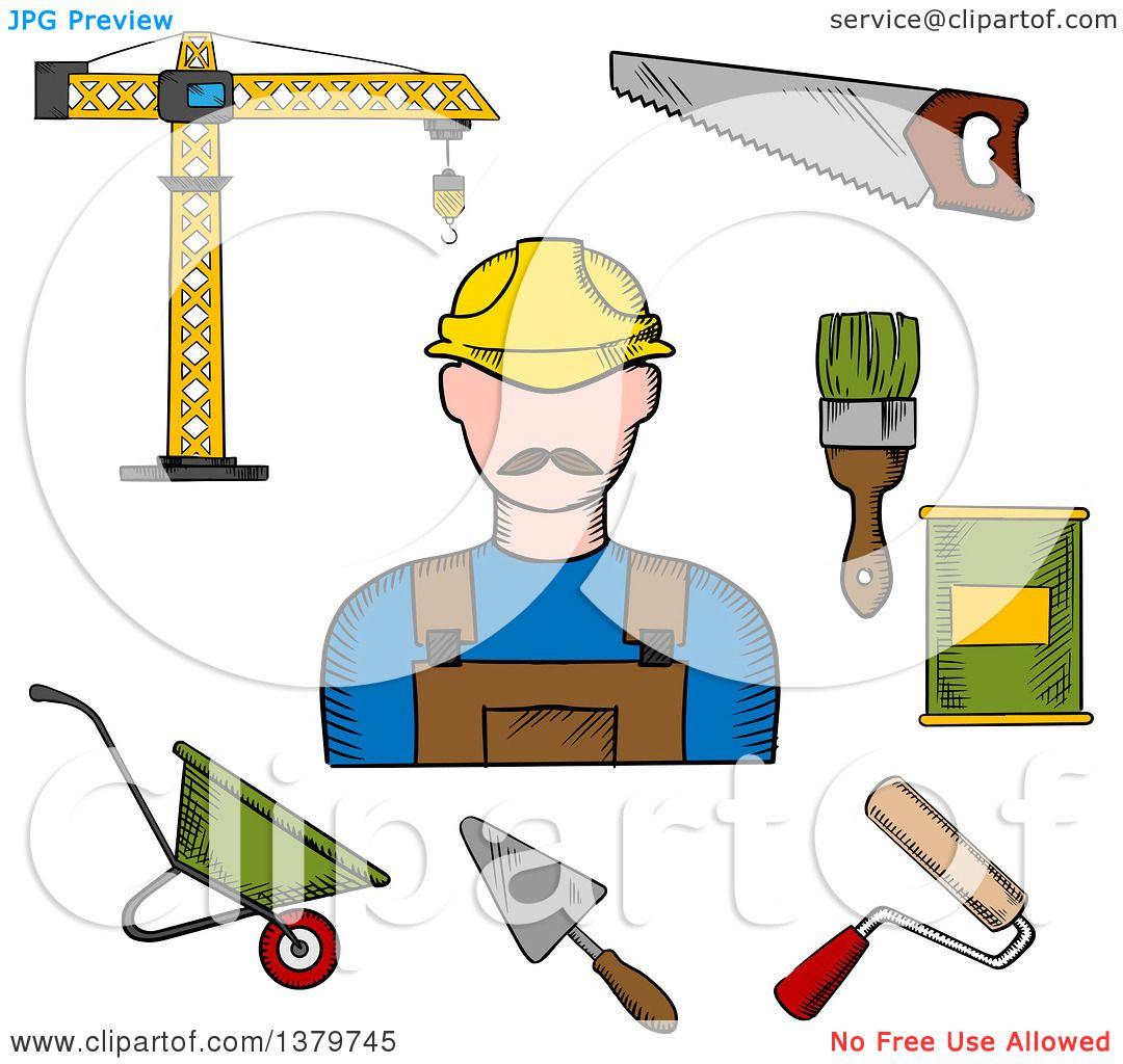 clip art construction tools sketch u2013 clipart free download