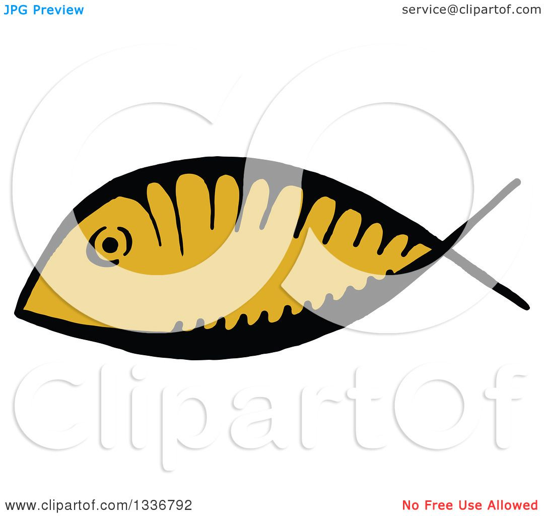 Clipart of a sketched doodle of a ichthus christian fish royalty clipart of a sketched doodle of a ichthus christian fish royalty free vector illustration by prawny biocorpaavc Image collections
