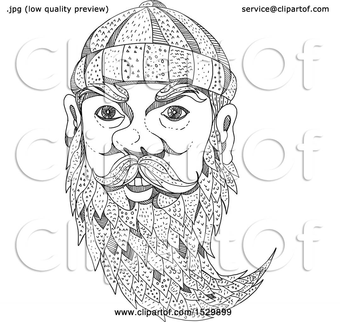 paul bunyan coloring pages - clipart of a sketched face of paul bunyan royalty free