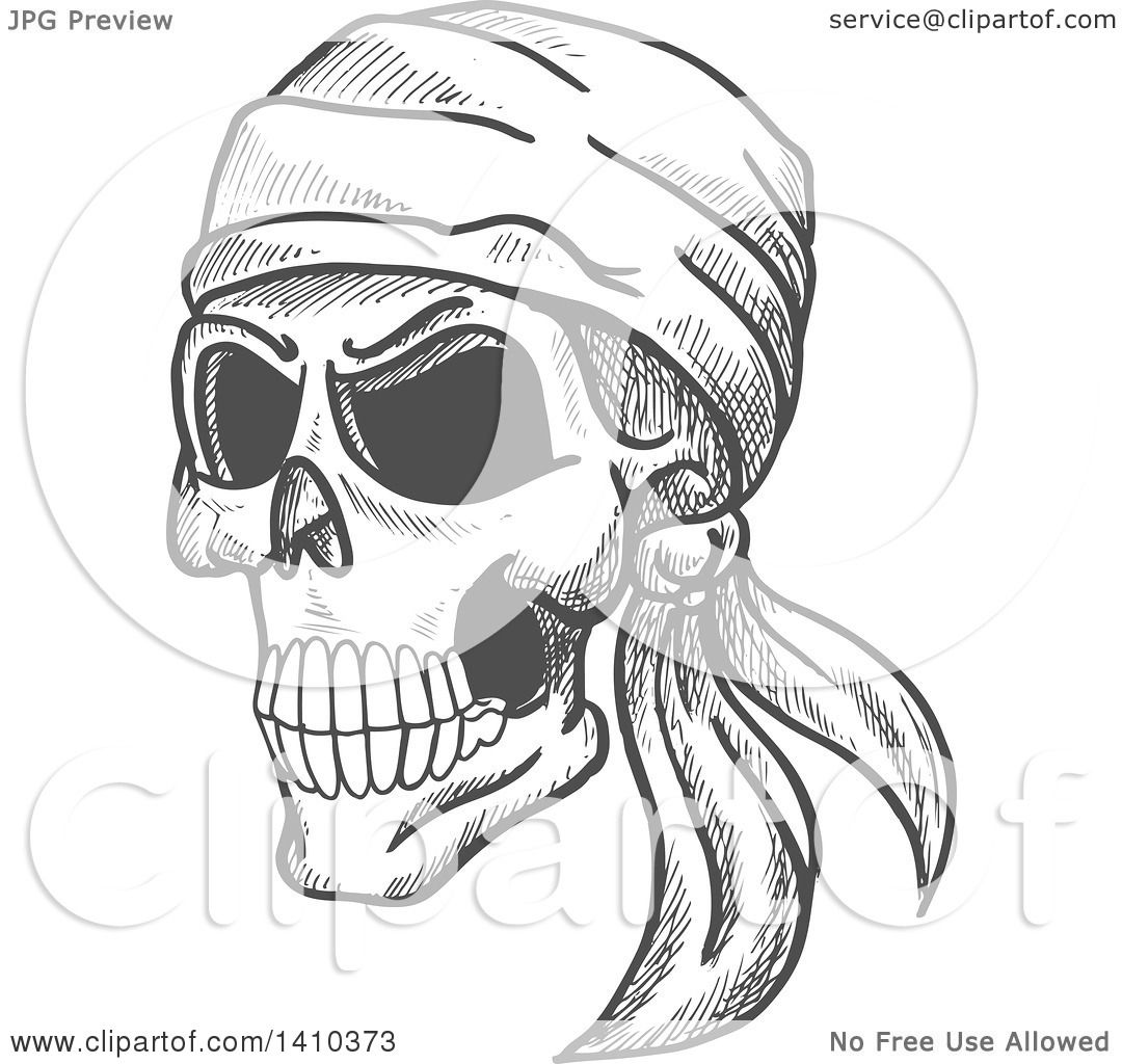 Clipart of a Sketched Gray Human