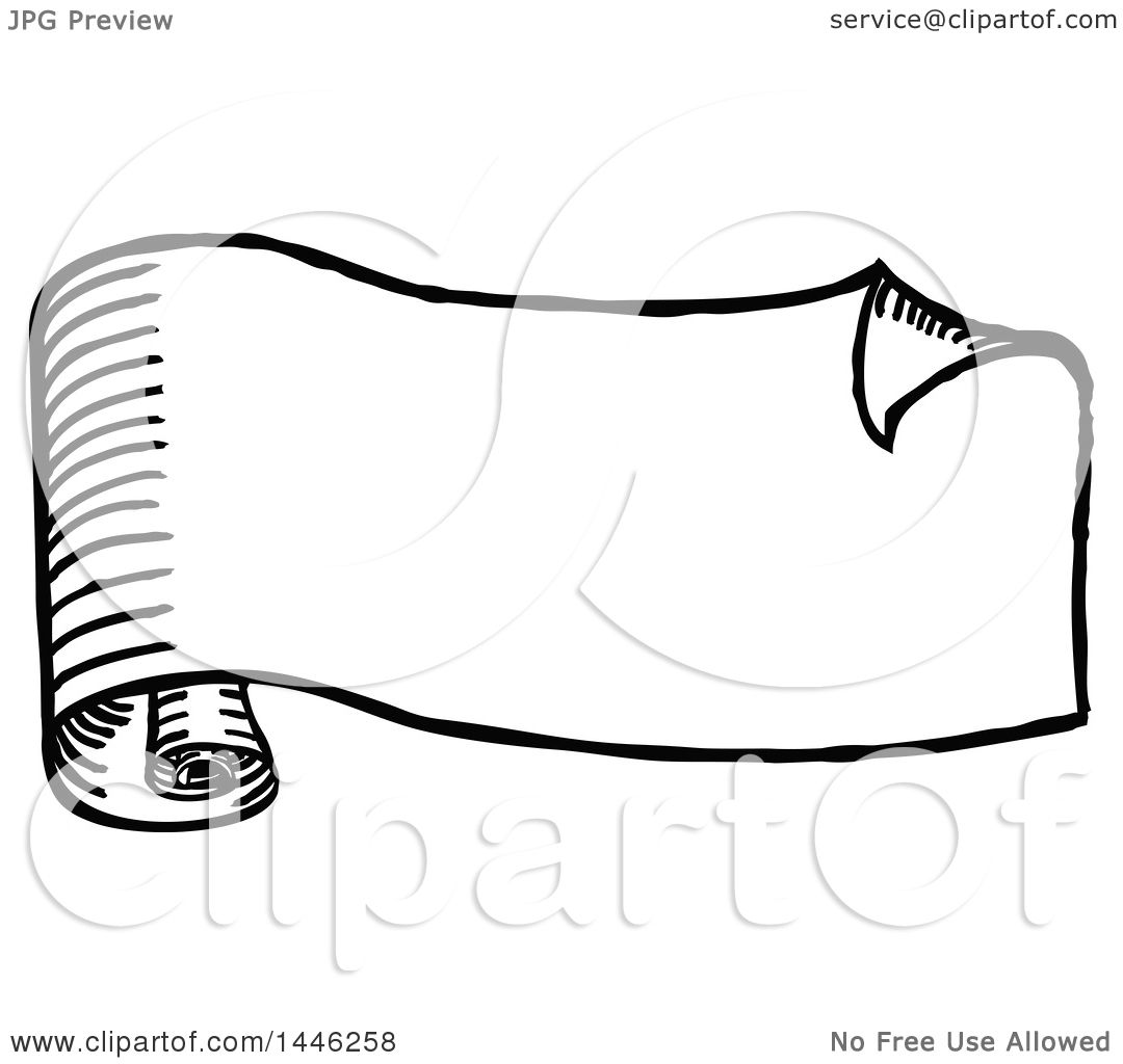 Clipart of a Sketched or Etched Styled Black and White ...