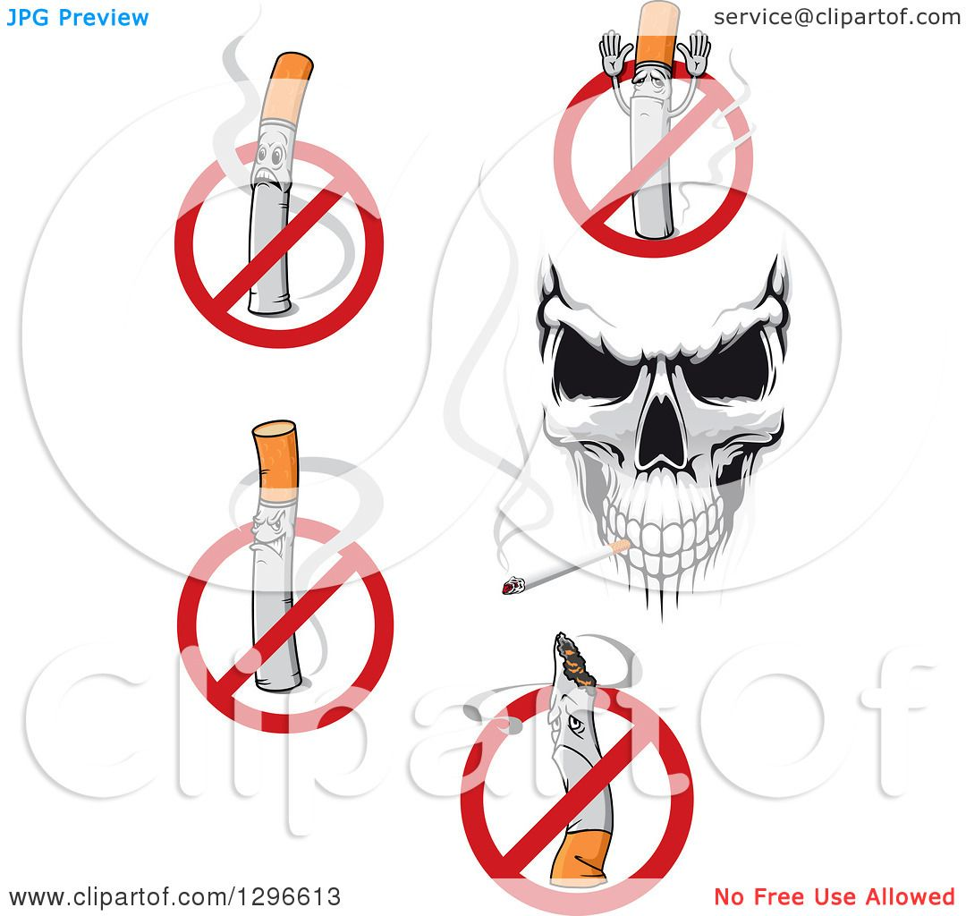 Clipart of a skull and no smoking designs royalty free for Free clipart no copyright